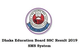 Dhaka Education Board SSC Result 2019